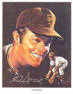 1969 Volpe San Diego Padres #8 Ed Spiezio Front