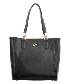 Love this Black Orlina Leather Tote by Segolene En Cuir on #zulily! #zulilyfinds