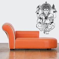 Wall Vinyl Sticker Decals Mural Room Design Pattern Ganesha Elephant Yoga Hindu bo470