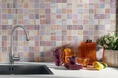 Moroccan Esque Patchwork Mosaic Tiles - simply perfect for your kitchen #Moroccan #mosaics #country http://www.wallsandfloors.co.uk/range/moroccan-tiles/patchwork-mosaic-tiles/