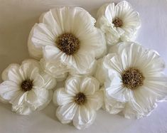 Giant white paper flowers for weddings, bridal showers and home decor wall art is part of White paper flowers Looking for a beautiful backdrop or romantic flower display for your wedding or bridal s - White Paper Flowers, Paper Flowers Wedding, Tissue Paper Flowers, Paper Flower Wall, Paper Flower Backdrop, Giant Paper Flowers, Flower Wall Decor, Diy Flowers, Paper Wedding Decorations