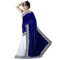 NimbleBuy: Gitanjali Fashions Women's Velvet & Net Saree(BEST...
