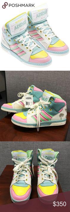 new style 4de79 e540b New Adidas Jeremy Scott Miami License Plate 11 NWT