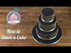 How to Make a Wedding Cake: Stacking a 3 Tier Wedding Cake (Part 2) from Cookies Cupcakes and Cardio - YouTube
