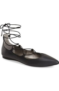 BP. 'Katrina' Pointy Toe Ghillie Flat (Women) available at #Nordstrom