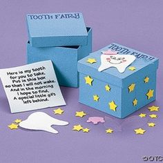 Cardboard Tooth Fairy Box Craft Kit Tooth Fairy Box, Diy And Crafts, Crafts For Kids, Fairy Crafts, Educational Crafts, Messy Play, First Tooth, Dental Hygiene, Dental Health