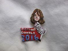 Donald Trump's Wife Melania Vote Donald 2016 Presidential Campaign Novelty Pin | eBay