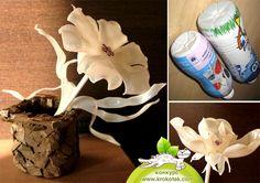 Repurpose: plastic bottle flowers