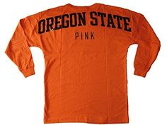 Victorias Secret PINK Bling Oregon State Crewneck Pullover Sweatshirt Orange XSmall -- Check out this great product.