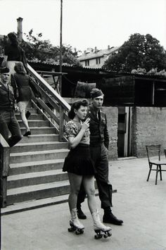 A G.I. and a Fraulein, Frankfurt, 1946 by Tony Vaccaro