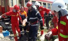 Accident TERIBIL: un autotren plin cu carne a intrat în coliziune cu un tren de persoane