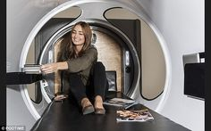 The pods will have space for luggage and there will be optional extras like TVs, lighting and power sockets