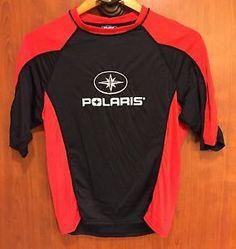 ☀NEW☀PURE POLARIS NYLON NEOPRENE SWIM SHIRT YOUTH SZ XL BLACK RED  | eBay