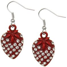 Candy Luxx - Red Rhinestone Mini Strawberry Dangle Earrings, $5.99 (http://www.candyluxx.com/products/red-rhinestone-mini-strawberry-dangle-earrings.html)