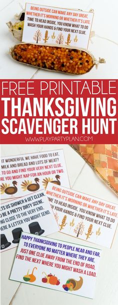 Love these Thanksgiving scavenger hunt ideas for kids! It's easy! Just print o. - Love these Thanksgiving scavenger hunt ideas for kids! It's easy! Just print out the clues that s - Thanksgiving Activities For Kids, Thanksgiving Traditions, Thanksgiving Parties, Thanksgiving Table, Thanksgiving Recipes, Thanksgiving Appetizers, Diy Thanksgiving Gifts, Decorating For Thanksgiving, Thanksgiving Blessing