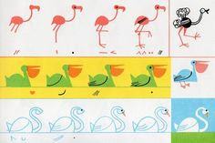Ed Emberley,  Little Drawing Book Birds,  1973