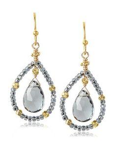 57ed2101c OFF Robindira Unsworth Slate Blue Quartz Teardrop Earrings. Jill Alberts  Jewelry