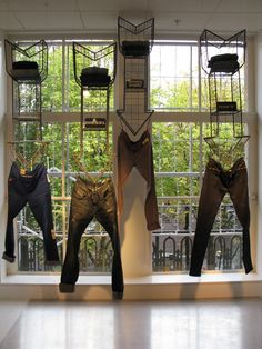 Denim display Bijenkorf Amsterdam
