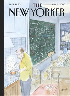 "The New Yorker - Monday, May 21, 2007 - Issue # 4216 - Vol. 83 - N° 13 - Cover ""Simple Physics"" by ""Sempé"" - Jean-Jacques Sempé"
