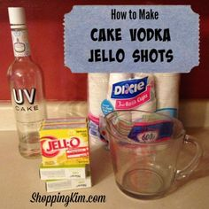 Let me share this super easy recipe for Jell-O shots that will actually work with any flavor of vodka or rum, but the cake-flavored vodka makes these Jell-O shots taste like Jello cake.