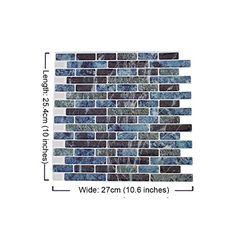 10u0027�10.6u0027 3D Waterproof Wall Stickers Backsplash Peel And Stick