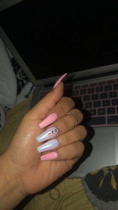 holiday chrome nails ideas best for Best ideas for holiday nails chrome 814096070126618847 Best Acrylic Nails, Acrylic Nail Designs, Nail Art Designs, Pink Nails, Gel Nails, Coffin Nails, Pink Coffin, Winter Nail Designs, Chrome Nails