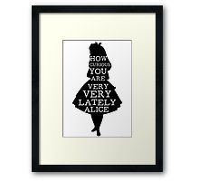 alice in wonderland, quotes, books, cheshire cat, typography, quotes, redbubble, art, picture, frame, decorations