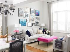 Decorate My Small Living Room. 20 New Decorate My Small Living Room. 21 Ways to Decorate A Small Living Room and Create Space Small Living Rooms, Home Living, Living Room Designs, Modern Living, Modern Couch, Living Room Accents, Living Room Decor, Eclectic Gallery Wall, Sala Grande
