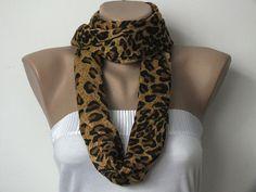 Pashmina Scarf  Leopard Print Scarf  Caramel  Black by cocoshwoman, $20.00
