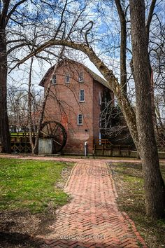 Wood's Grist Mill in Hobart Indiana. The Wood's Grist Mill is in Deep River County Park and was built by John Wood in the early 1800's.