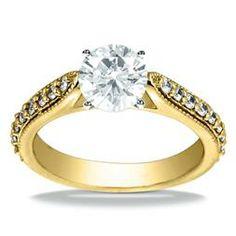 18K Yellow Gold Vintage Engagement Ring Adair Jewelers ::