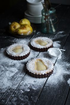 The Urban Poser — Chocolate & Pear Frangipane Tarts for the grain...
