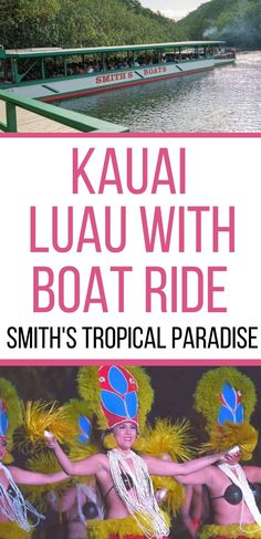 Looking for fun things to do on Kauai Hawaii? Check out this awesome Kauai luau with a Fern Grotto boat ride up the Wailua River. This is one of the best luaus on Kauai! | Kauai Activities | Kauai Attractions | Kauai Boat Ride | Smith's Tropical Paradise | Hawaii Luaus | Lihue Kauai | Kauai Tour | Kauai Things to do | What to do on Kauai | Kauai Boat Trip | Hula Dancing | Kauai Travel | Travel to Kauai | Kauai Vacation | Trop to Kauai | Kauai Trip | Kauai Itinerary | Kauai with Kids Kauai Things To Do, Kauai Hotels, Kauai Activities, Kauai Vacation, Hawaii Travel Guide, Tropical Paradise, Travel Pictures, Travel Usa, Travel Inspiration