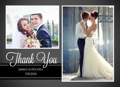 Send your family and friends thank you cards for attending your wedding! CatPrint Design #937