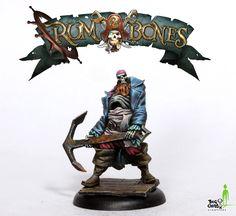 Rum and Bones – BigChildCreatives Fantasy Miniatures, Mini Paintings, Character Art, Bones, Sci Fi, Sculpture, Tabletop, Devil, Gaming