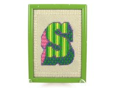 S is for Super  Initial S Mod Vintage 70s by OrbitingDebris, $26.00