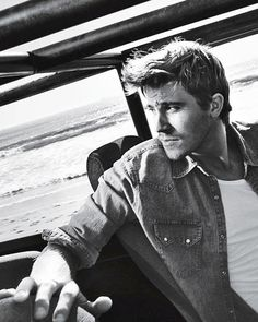 Garrett Hedlund. Wow, this picture makes him look like a new age James Dean. But he also would make a really hot Andrew Parrish in The Edge of Never. Gaddamn.