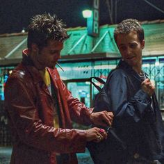 """""""The Narrator: """"What kind of assignment?"""" Tyler Durden: """"Human sacrifice."""""""""""