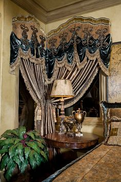 Tuscan style – Mediterranean Home Decor Tuscan Design, Tuscan Style, Window Coverings, Window Treatments, Victorian Curtains, Drapery Designs, Beautiful Curtains, Mediterranean Home Decor, Custom Drapes