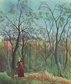 Henri Rousseau, La passeggiata nella foresta, 1886-1890. Olio su tela, cm. 70X60. Kunsthaus, Zurigo