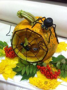 Интересные новости Halloween Crafts For Kids, Halloween Pumpkins, Halloween Decorations, Fall Arts And Crafts, Diy And Crafts, Paper Crafts, Seasons Activities, Autumn Activities, Fruit Animals