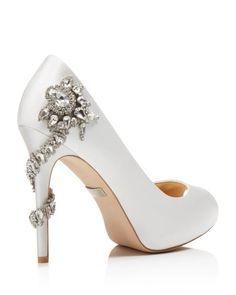 Badgley Mischka Royal Embellished Peep Toe High Heel Pumps   Bloomingdale's