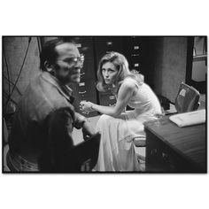"""Network"" - Sidney Lumet and Faye Dunaway between takes (New York, 1975). Photo: Mary Ellen Mark."