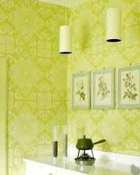 This citrus green is so fresh! Bright #wallpaper brings a nice touch to any space!