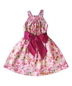Look what I found on #zulily! Wisteria Floral A-Line Dress - Toddler & Girls by Sophie Catalou #zulilyfinds