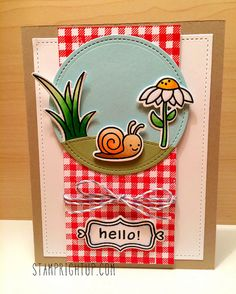 Lawn Fawn - Gleeful Gardens + coordinating dies, Gingham Backdrops, Flirty Frames + coordinating dies, Harold's ABCs, Stitched Circle Stackables, Stitched Hillside Borders, Stitched Rectangle Stackables, Cloudy Lawn Trimmings _ super cute card by Wendie via Flickr - Photo Sharing!