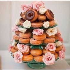Doughnut tower instead of cake my favourite!
