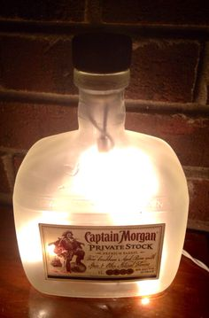 Check out more items at  https://www.etsy.com/listing/222662501/captain-morgan-private-stock-caribbean #aged #captainmorgan #caribbean #lighted #bottle  #rum Visit lightitupcreations.com