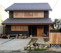 Small House Design, Cool House Designs, Asian Architecture, Architecture Design, Facade Design, Exterior Design, Japanese Style House, Japanese Buildings, Shed Homes