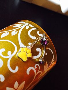 LSU Tigers  Belly Button Ring by joolrylane on Etsy, $28.00